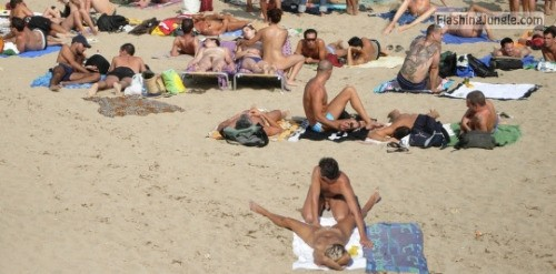 beach boners: beach boners.tumblr.com Follow me for more public... voyeur public sex nude beach