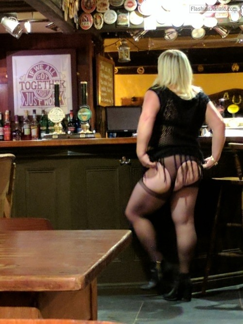 ukfuncouple50:My slutty hotwife Jane flashing her ass in our... public flashing mature howife ass flash