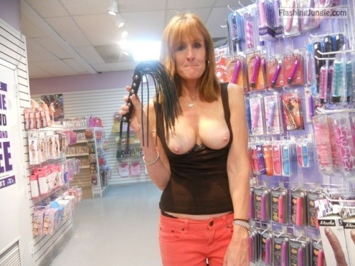Sex shop flashing 2! public flashing milf pics howife flashing store boobs flash bitch