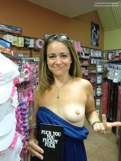Sex shop flashing 5 public flashing milf pics howife flashing store boobs flash