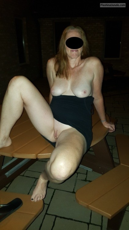 Picnic at night, thanks for the submission @crazyjt69 pussy flash public flashing no panties milf pics howife boobs flash