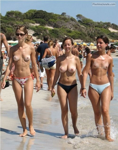 Naked beach flashers