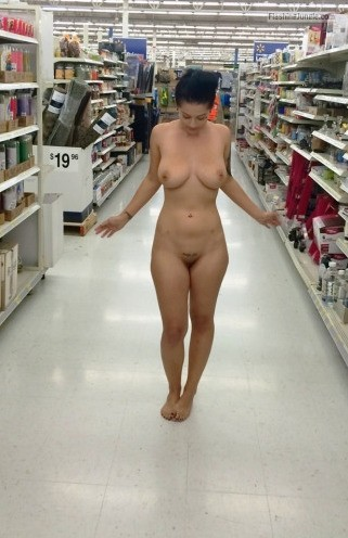 Photo public nudity flashing store