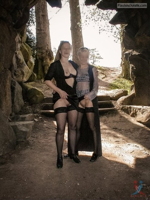2 old cougars in cave upskirt pussy flash public flashing no panties milf pics mature bitch