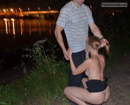 Slut wife riverbank public blowjob voyeur public sex howife
