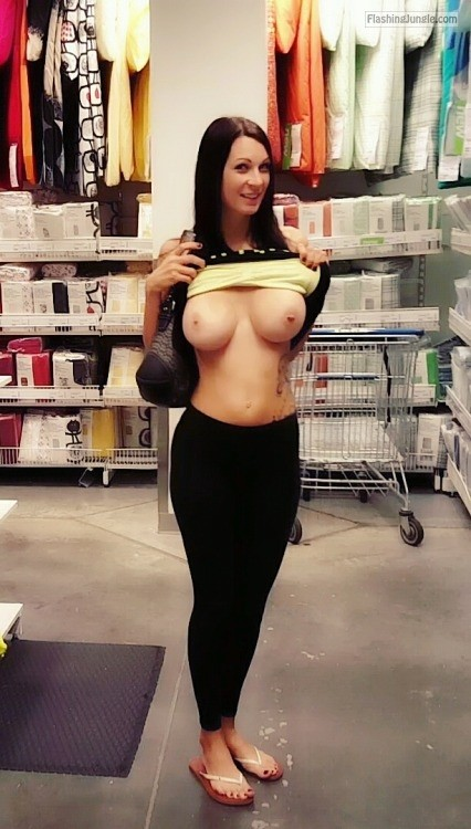 Public Flashing Pics MILF Flashing Pics Flashing Store Pics Boobs Flash Pics - Perfect big round boobs brunnete