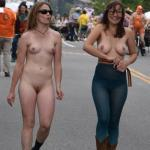 Two sluts street walk