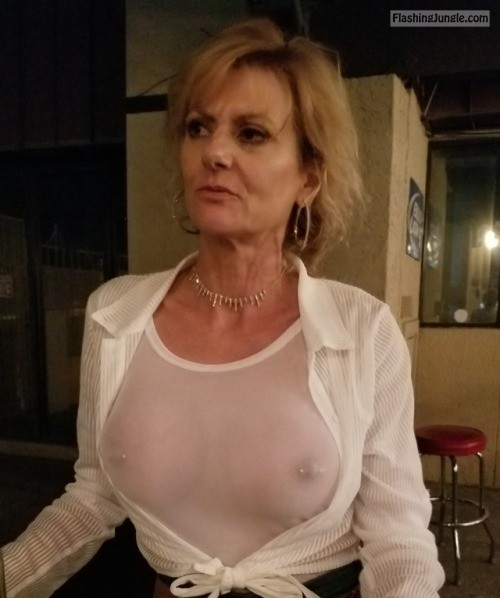 Granny with perfect pierced breasts