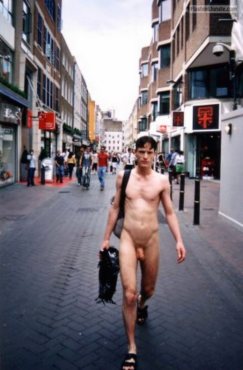 Big limp cock street walk public nudity dick flash
