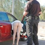 Policeman and bottomless wife