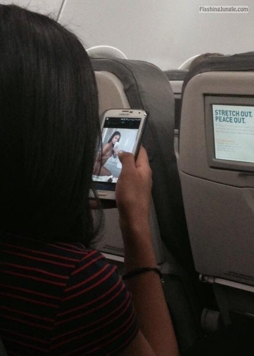Caught looking at porn on a plane voyeur howife