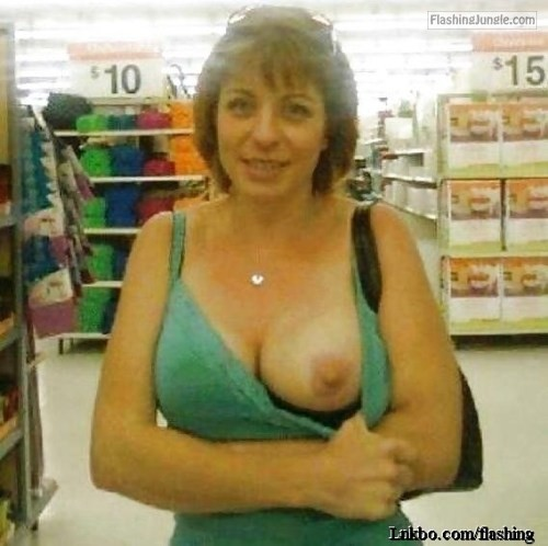 Amateur wife one boob out milf pics flashing store boobs flash