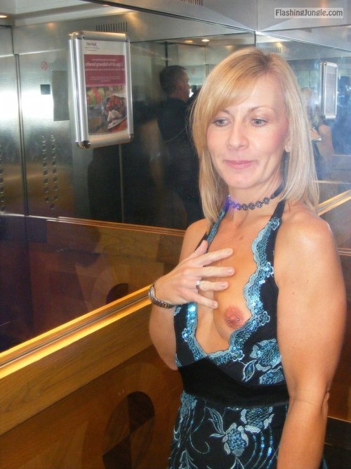 Blonde cougar elevator milf pics howife boobs flash