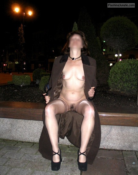 Naughty wife front view pussy flash public flashing no panties mature howife boobs flash