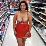Chubby GF skimpy red dress