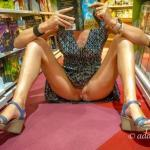 Bookstore adventure without panties