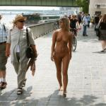 Small blonde with gorgeous body naked street walk