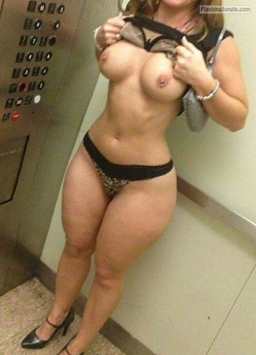 Elevator nudity: Wide hips narrow waist big tits PERFECT! public flashing milf pics boobs flash