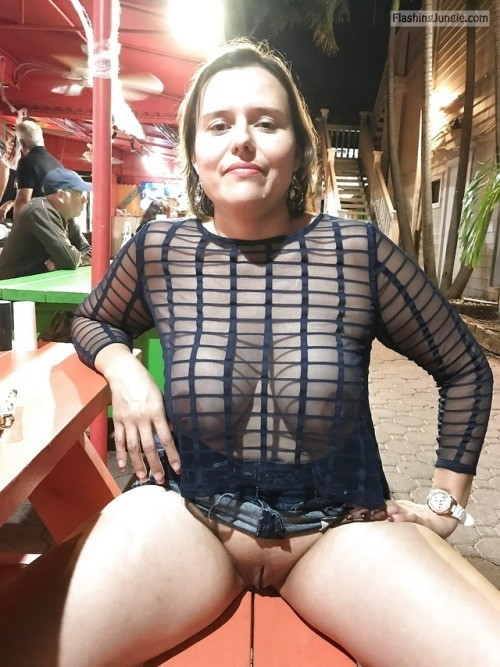 See through blouse no bra pantieless nigh out upskirt pussy flash public flashing no panties milf pics boobs flash