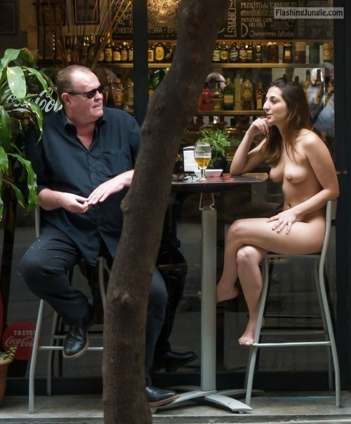 <strong>Caught naked</strong> while drinking beer and chatting with older man