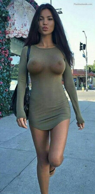Big huge tits public unaware