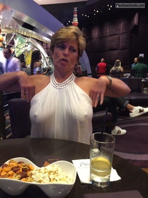 Mature wife: Pokies at the restaurant means hit on some hansom guy public flashing pokies pics milf pics mature howife boobs flash bitch