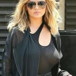 No bra see through tank top celebrit Chrissy Teigen pokies