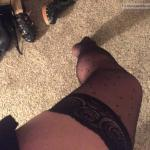 Panties or no for night out: female leg in stocking
