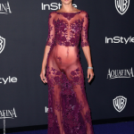 Celeb Alessandra Ambrosio nude pussy see through dress no underwear