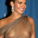 Celeb Jennifer Lopez nude tits see through top