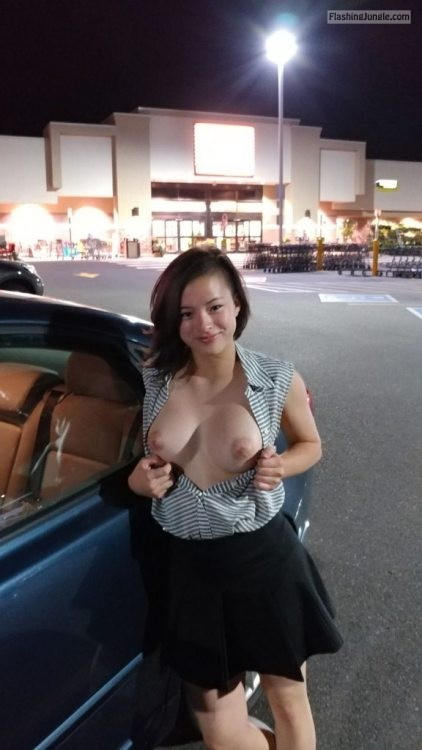 Happy to do the flash dare in public for the first time public flashing boobs flash