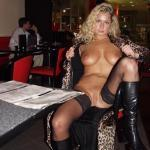 Blonde in leopard coat: Fuck me, suck me, make me cum