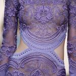 Roberto Cavalli spring 2015 – Lacy purple see through dress