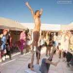 Naked artists on the street: tourist attraction