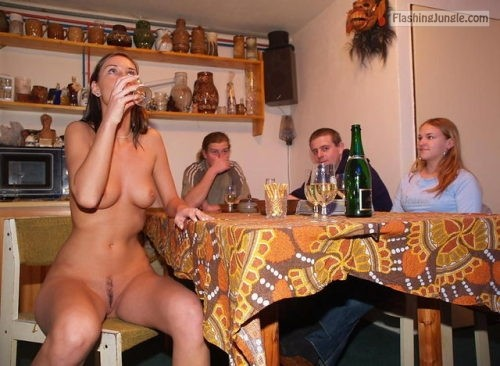 drunk girls partying 3:Drunk Girls Partying  ... public flashing