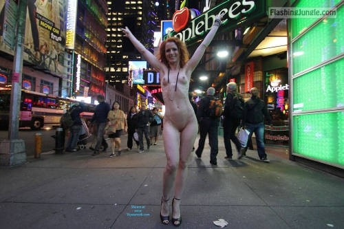 p-s-s: Vienna – Nue York New York Slut strutting redhead… Follow…