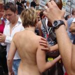 nakedgirlsdoingstuff:Girl at pride parade. Follow me for more…