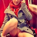 voyeur-girlsgoingcommando4:Upskirt train ride