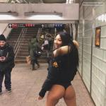 nudist-voyeurs: Asa Akira, 32, participates in 'No pants Subway…