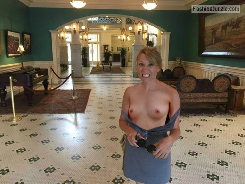 enf findings:She waited until the place was clear before doing... public nudity
