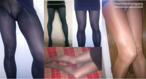 violetlovespantyhose: A few random photos of me from the last... no panties