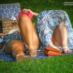 pantylessuniverse: Picnic oops
