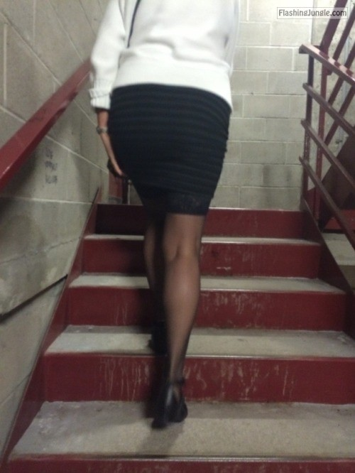 No Panties Pics - adave77: Skirt or no skirt? Just showing off :) As long as…
