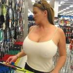 carelessinpublic:Inside a shop and showing her big boobs with…