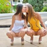 Not one, but two FTV Girls going commando and giving us an…