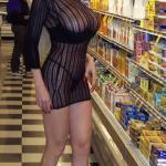 carelessinpublic:Milf showing her big boobs inside a shop in her…