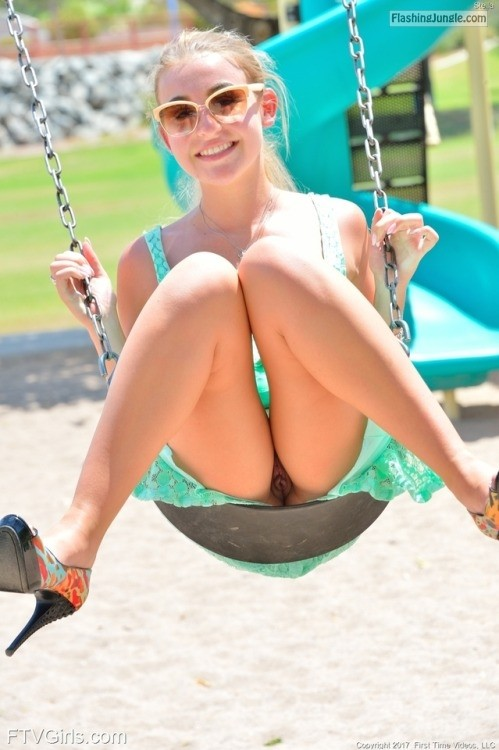Stella from FTV Girls has fun swinging. Not THAT kind of... upskirt