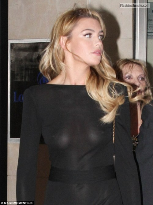 wardrobemalfunction:Abbey Clancy   Seethru   Nipples public flashing