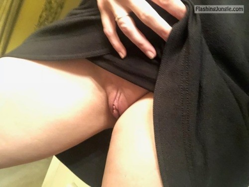 raleighhotwife: Getting ready for work…. oops I forgot my... no panties