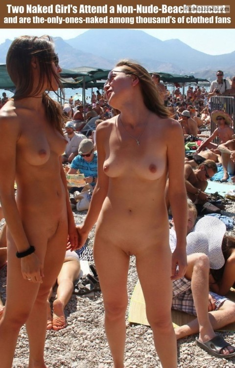 Public Flashing Pics - cfnf-clothed-female-naked-female: Two Naked Girl's Attend a…